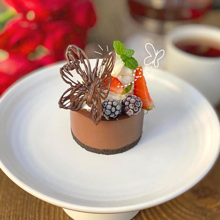 چیزکیک تکنفره شکلاتی